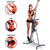 """MaxiClimber - The original patented Vertical Climber, """"As Seen On TV"""" -  Full Body Workout with BONUS Fitness App for Apple and Android"""
