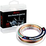 RUNCL Braided Fishing Line with 8 Strands, Fishing Line PE Material 1093Yds/1000M 546Yds/500M 328Yds/300M 109Yds/100M with Multiple Colors for Freshwater and Saltwater