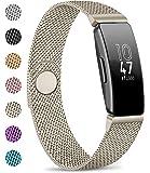 AK kompatibel med Fitbit Inspire HR-rem, metallnät magnetiskt spänne rostfritt stål ersättningsrem för Fitbit Inspire…