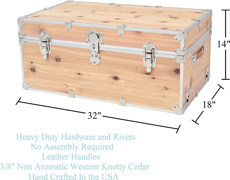 Artisans Domestic Heirloom Knotty Cedar Storage Box Wood Trunk /& Case for Home D/écor
