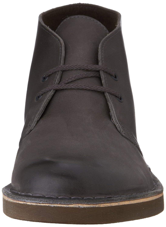 79ac6b283da Grey Grey Grey Leather Clarks Men's Bushacre 2 Chukka Boot 36227c ...