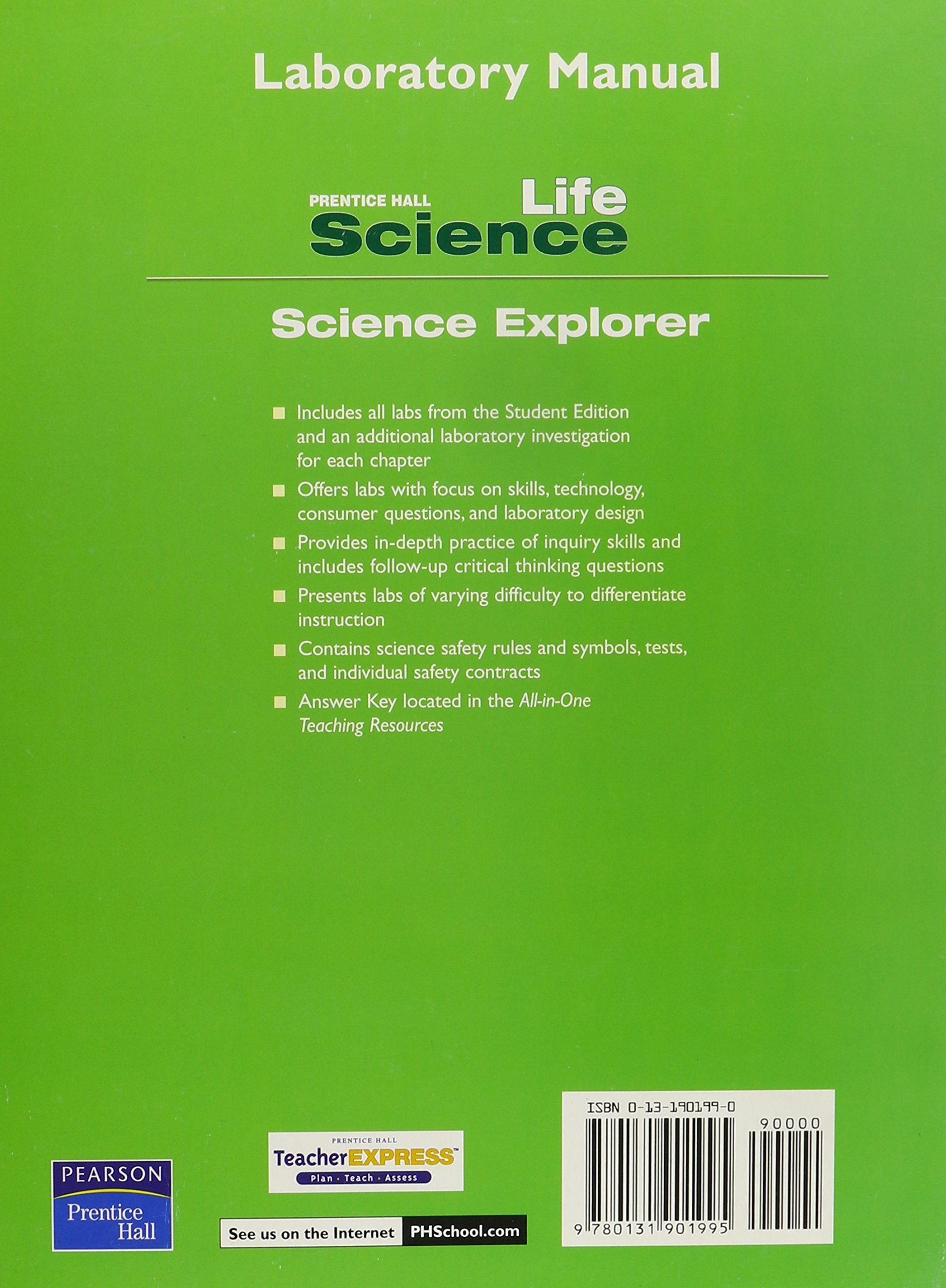 Prentice Hall Science Explorer: Life Science, Laboratory Manual: PRENTICE  HALL: 9780131901995: Amazon.com: Books
