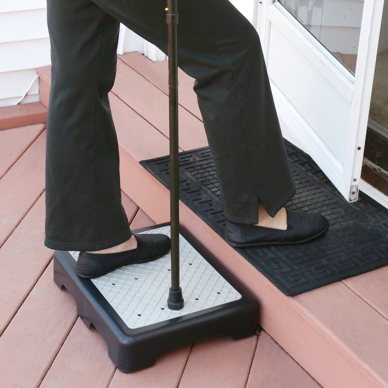Support Plus Indoor/Outdoor Riser Step 3 1/2'' High - Non-Slip All Weather Top & Feet - Supports 400 lbs.