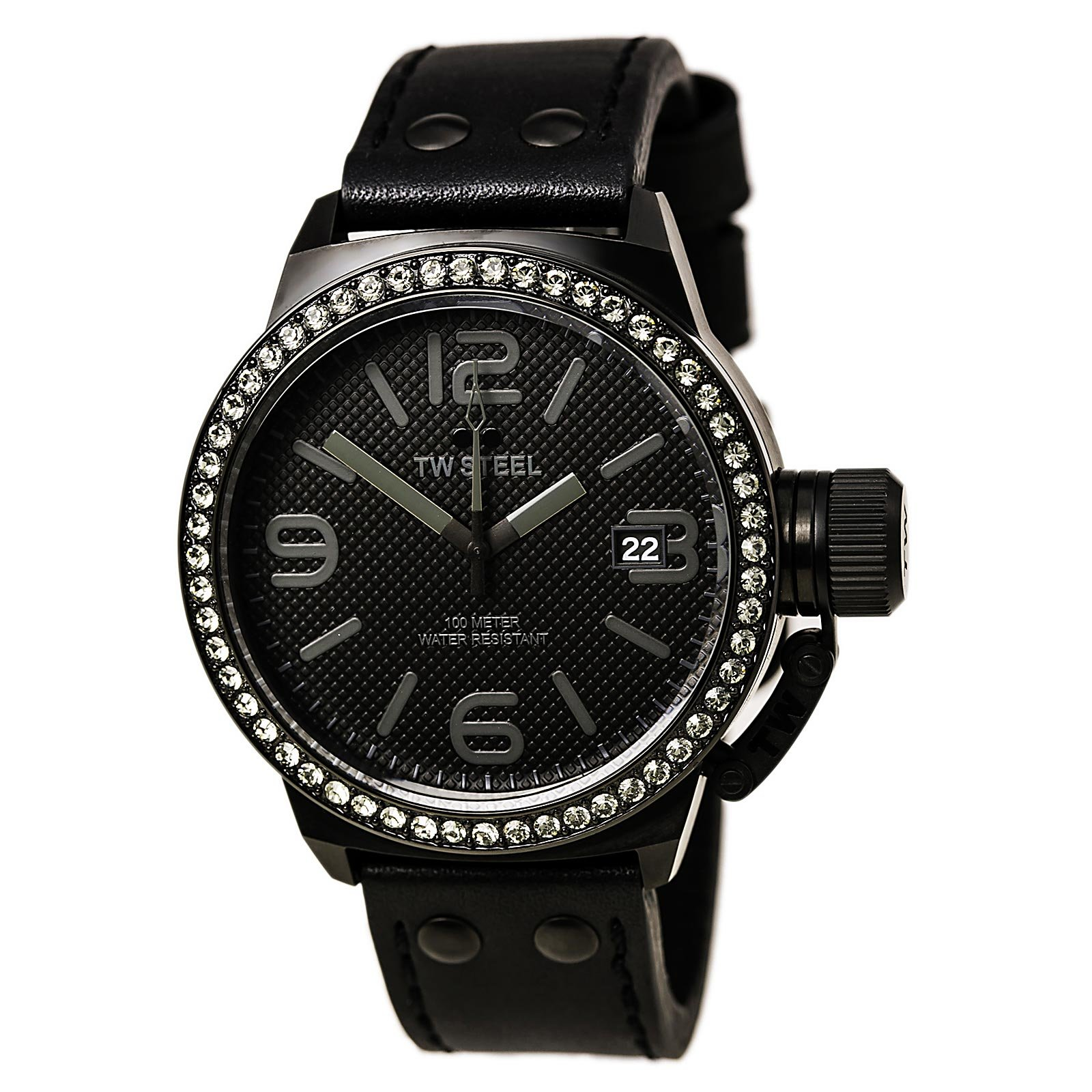 TW Steel Canteen 45mm Black Dial Black PVD Unisex Watch TW912