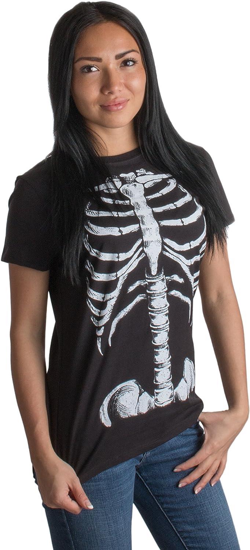Skeleton Rib Cage | Jumbo Print Novelty Halloween Costume Ladies' T-Shirt
