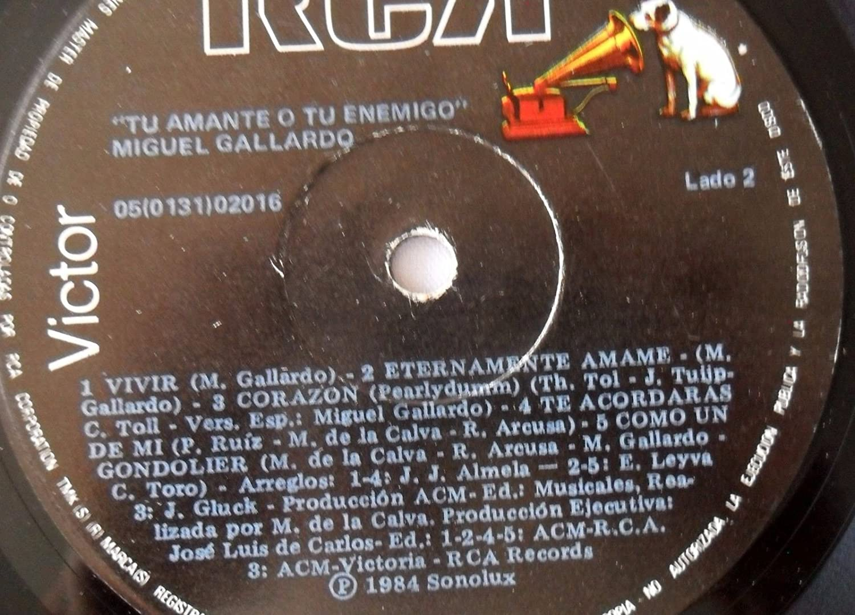MIGUEL GALLARDO TU AMANTE O TU ENEMIGO VICTOR 1984 EXCELLENT-COLLECTORS STORE - MIGUEL GALLARDO TU AMANTE O TU ENEMIGO VICTOR 1984 EXCELLENT-COLLECTORS ...