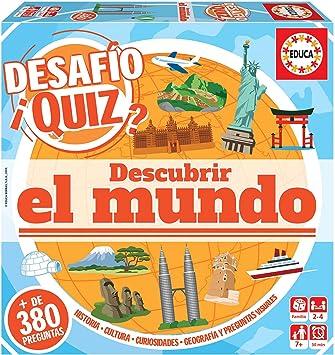 Educa Borrás Desafío Quiz Descubrir El Mundo, Juego de mesa ...