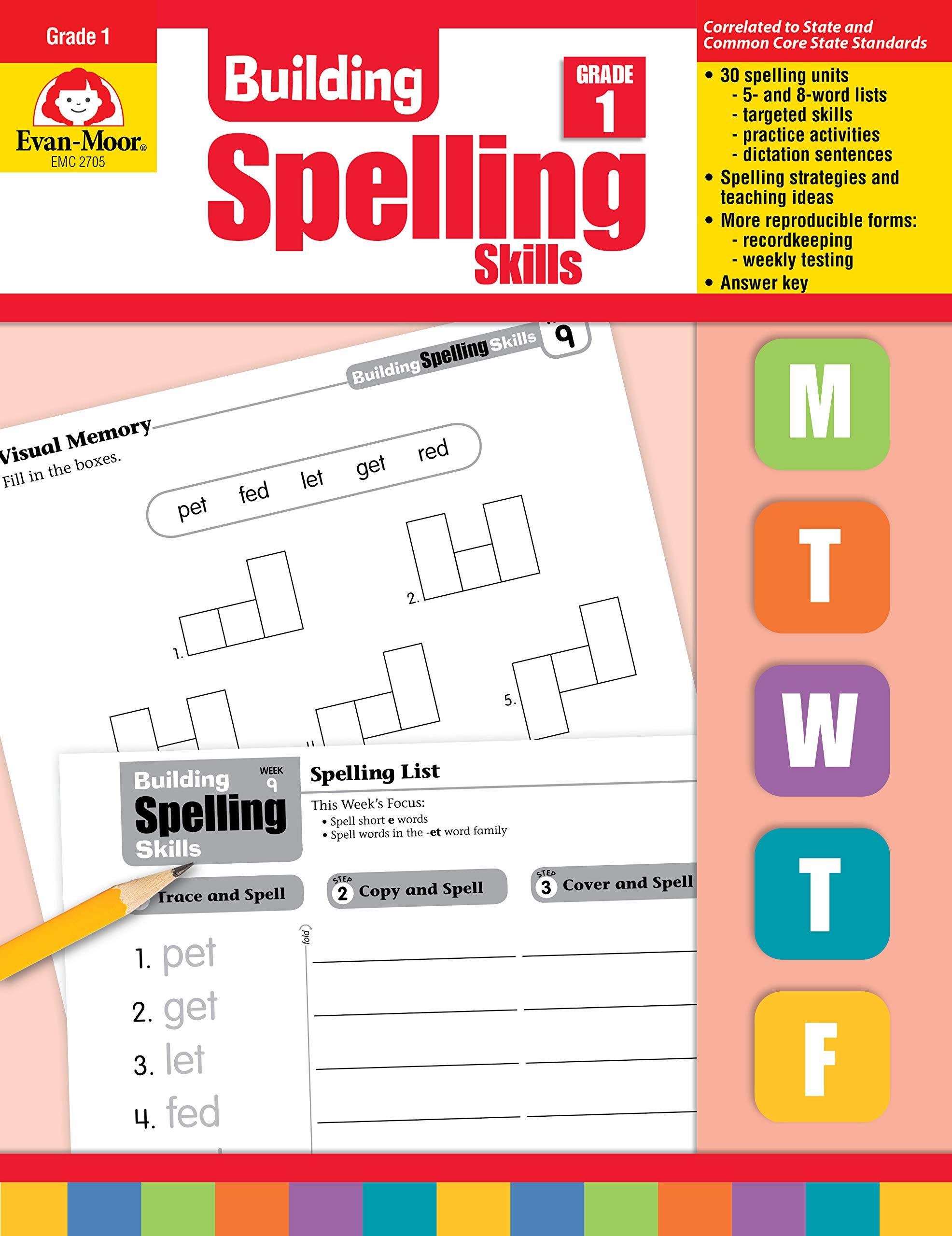 Amazon com: Building Spelling Skills: Grade 1 (9781557998392