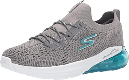 Skechers Go Run Air-16071 - Zapatillas de deporte para mujer, Gris (Carbón de leña, azul), 36 EU