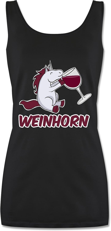 Shirtracer Einh/örner Weinhorn Tanktop f/ür Damen und Frauen Tops