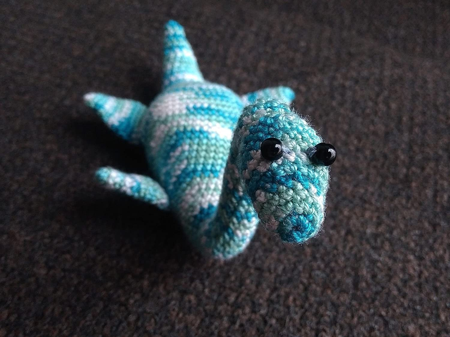 FO] Amigurumi Loch Ness Monster! This one was lots of fun to make ... | 1125x1500