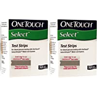 OneTouch Select 100 Test Strips Box (2 Pack of 50 each)