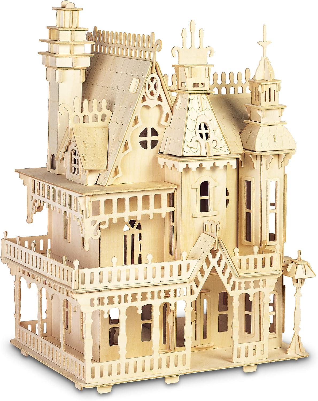 3D Jigsaw Woodcraft Kit Wooden Puzzle Living Room Miniature Furniture