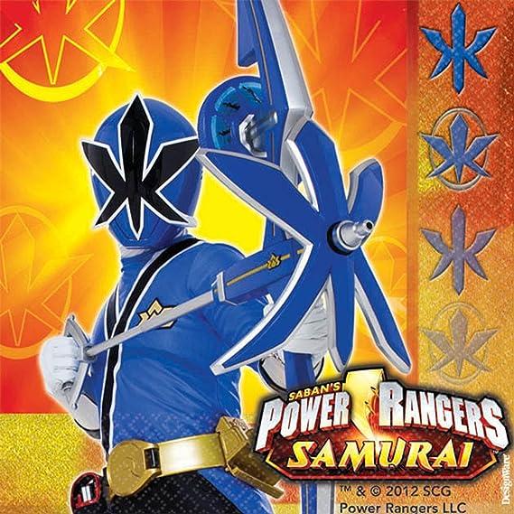 Amazon Com Power Rangers Samurai Small Napkins 16ct Kitchen Dining