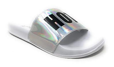 amazon com charles albert women s hotmess cool slide flat sandal
