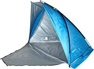 AmazonBasics Pop-up Beach Tent Sun Shade Shelter with Poles and Stakes - 94.5 x 57 x 57 Inches, Blue