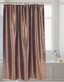 Carnation Home Fashions FSC15 FS/82 Shimmer Faux Silk Shower Curtain, Bronze