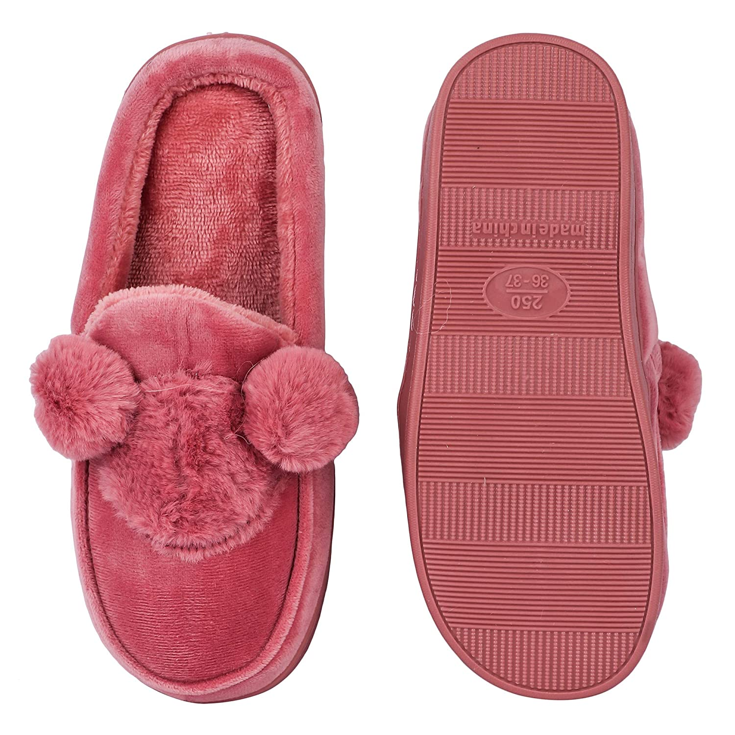 4d5bf8f43 Brauch Women s Mickey Fur Winter Slippers  Buy Online at Low Prices in  India - Amazon.in