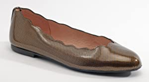 French Sole Women's Jigsaw Ballet Flat Copper 7B