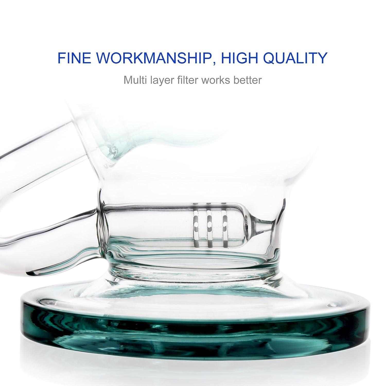REANICE (GLOBE A) Recycleur le verre bong complexe bong 14.5mm bong bowl  Hauteur 24cm la direction générale des tuyaux en verre alvéolaire bong   Amazon.fr  ... 60dd129ce7f2