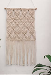 Handmade Macrame Wall Hanging- Woven Wall Art- Macrame Tapestry- Square Wall Decor-