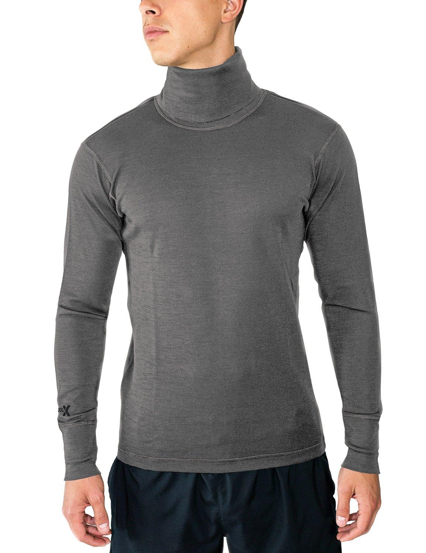 Woolx Prescott - Men's Merino Wool Turtleneck - Midweight Wool Base Layer Shirt X504-001