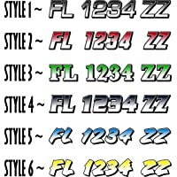 Boat Registration Numbers X2 GR / 2 Pack/Custom State Registration Stickers/Vinyl Boat Decal Graphics Pair Registration…
