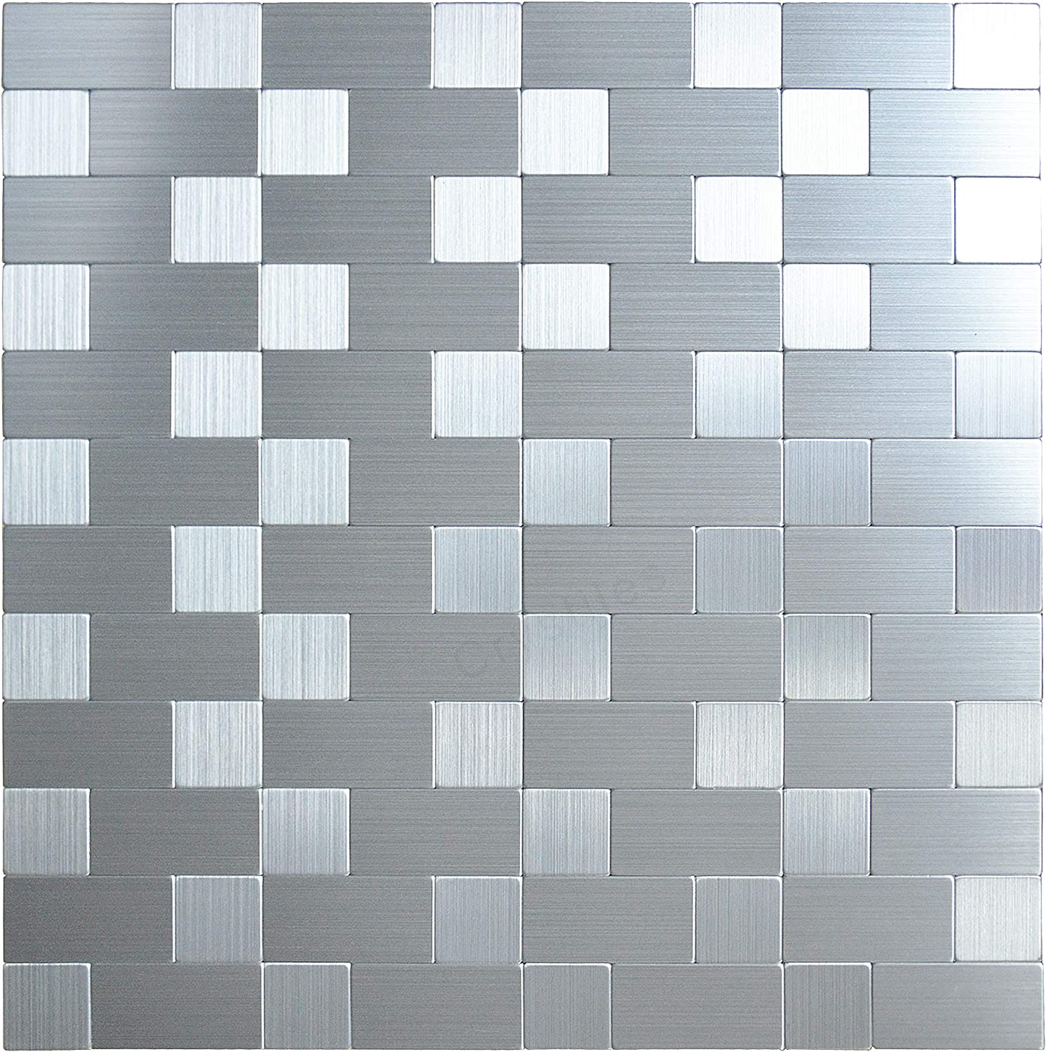 - Amazon.com: Crystiles Peel And Stick Mosaics Brushed Stainless
