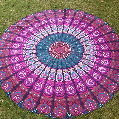 Worldwideretailers Indian Mandala Beach Throw Tapestry Hippy Boho Gypsy Cotton Table Cover Sofa Bed Throw