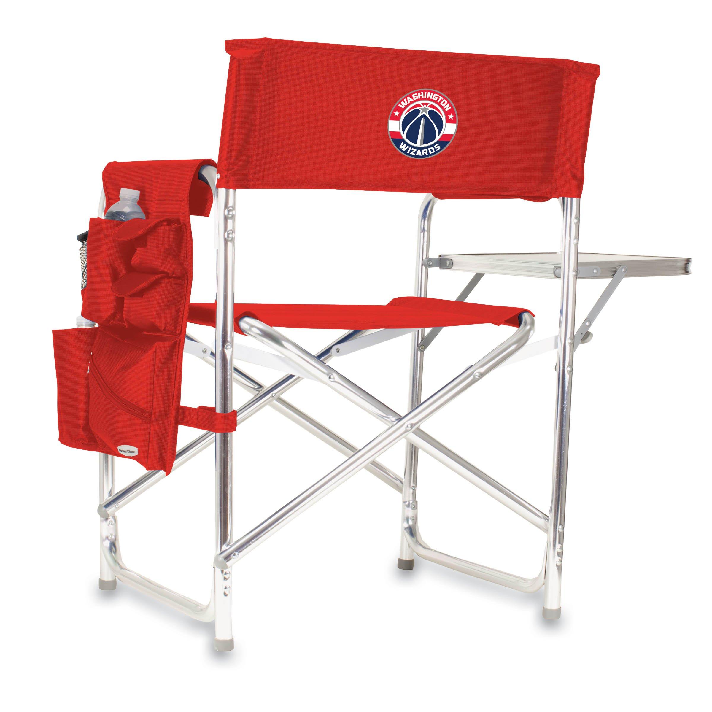 PICNIC TIME NBA Washington Wizards Portable Folding Sports Chair, Red