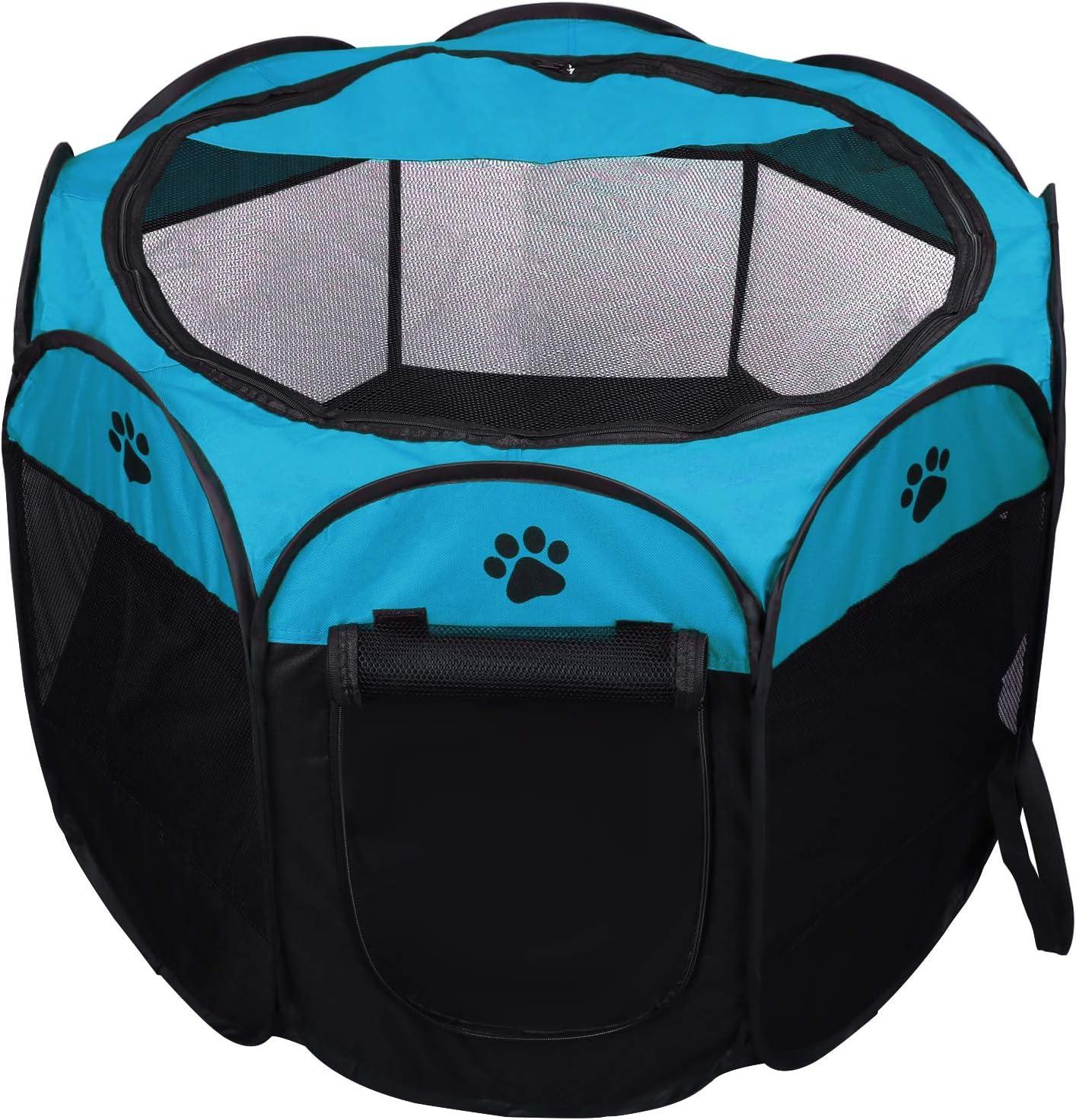 Gatos 73 x 73 x 43 cm Conejos y Animales peque/ños Coolty Parque Plegable port/átil para Mascotas 8 Paneles para Perros