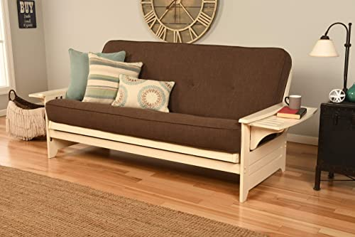 Kodiak Furniture Monterey Queen-size Futon, Butternut Finish with Suede Gray Mattress