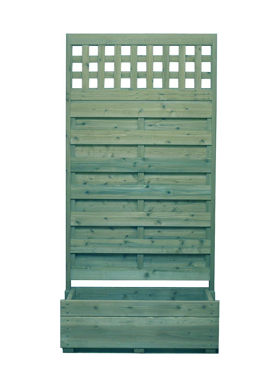 規格型 プランター付きフェンス 【フェンス+プランター】 高さ1800×幅880×奥行432mm フェンスデザイン: 目隠し+上部格子B GG(グレイッシュグリーン)色 B01N68HB5E 18684 GG(グレイッシュグリーン) GG(グレイッシュグリーン)