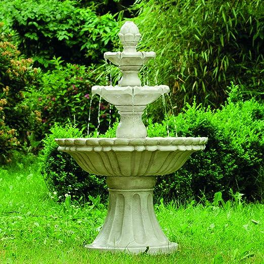 Fuente Köhko Markleeberg, fuente clásica de varias alturas, baño para pájaros, 13010, fuente, fuente para jardín: Amazon.es: Jardín