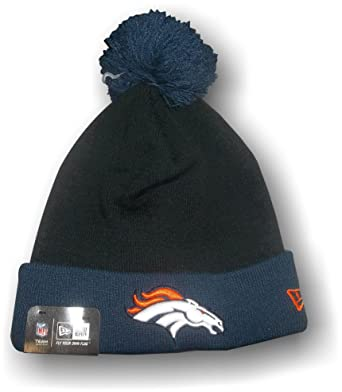 d1987c3569c3c New Beanie Hat NFL Denver Broncos Black Blue at Amazon Men s Clothing store