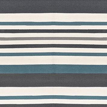 Milanari Teppich Oslo Natur Blau Grosse 200 X 140 Cm Amazon De