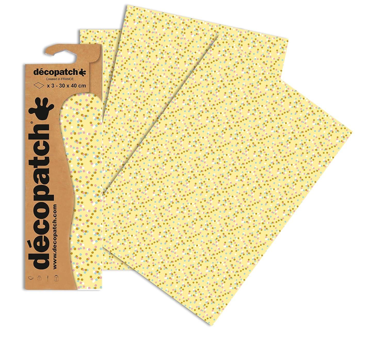 30 x 40 cm décopatch Purple Burst Paper Pack of 3 Sheets
