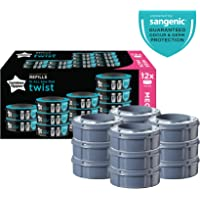 Tommee Tippee Twist and Click Advanced Nappy Disposal Sangenic Tec Refills, Pack of 12 (Compatible with Sangenic Tec, Twist and Click Bins)