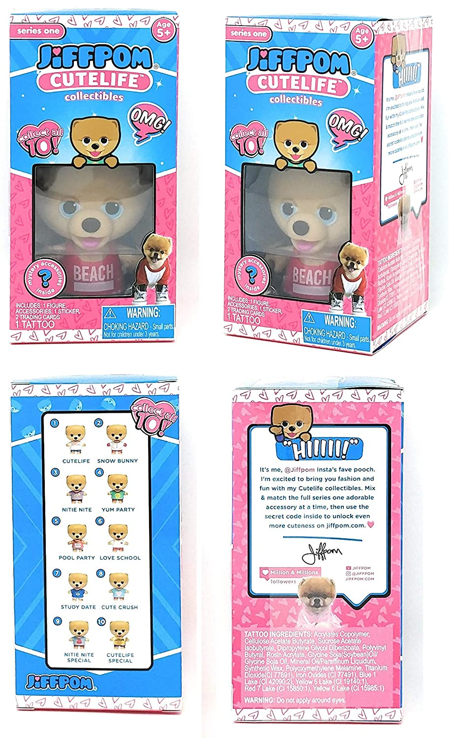Jiffpom Cutelife Collectibles 3 Pool Party