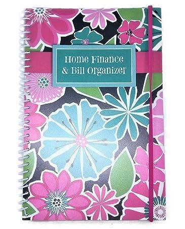 home finance u0026 bill organizer with pockets bright flowers - Bills Organizer