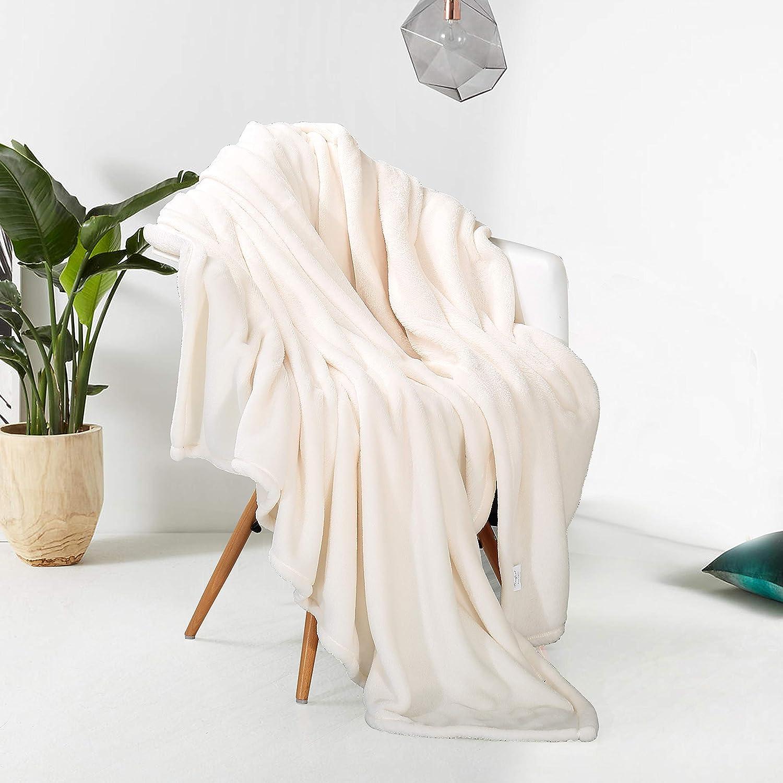 Silver Grey, Throw 50X60 Reafort Ultra Soft Flannel Fleece All Season Light Weight Living Room//Bedroom Warm Blanket Throw 50X60