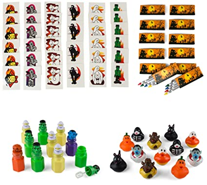 neliblu halloween mega toy novelty assortment includes 12 halloween ducks 12 halloween themed character bubbles