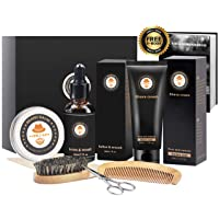 Deals on Xikezan 8 in 1 Mens gifts for Men Beard Care Growth Grooming Kit