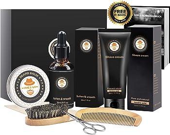 Xikezan 8-in-1 Mens Beard Care Grooming & Trimming Kit