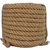 Twisted Manila Rope Jute Rope 50 Feet Natural Jute Twine Hemp Rope 3/4-Inch Diameter Twine Burlap Rope
