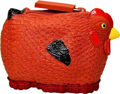 Hen Couture Rubber Chicken Coin Purse - Rhode Island Red Hen Chick Coin Purse Pouch