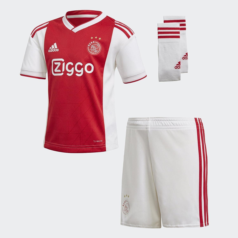 best service f8a2b 35f94 Amazon.com : adidas 2018-2019 Ajax Home Mini Kit : Sports ...