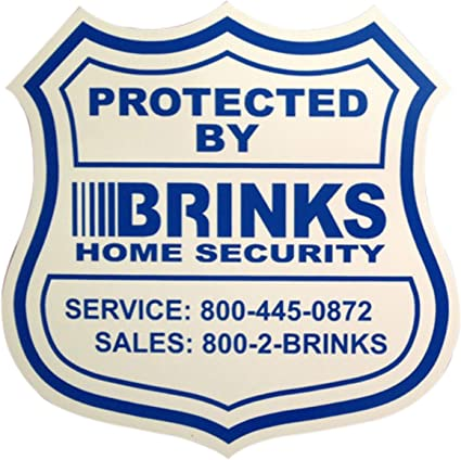 2 Brinks No stakes Home Security Alarm 2020 Yard Signs and 4 decals