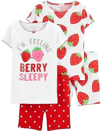 853ed0c61 Carter's Girls' 4-Piece Snug Fit Cotton Pajamas