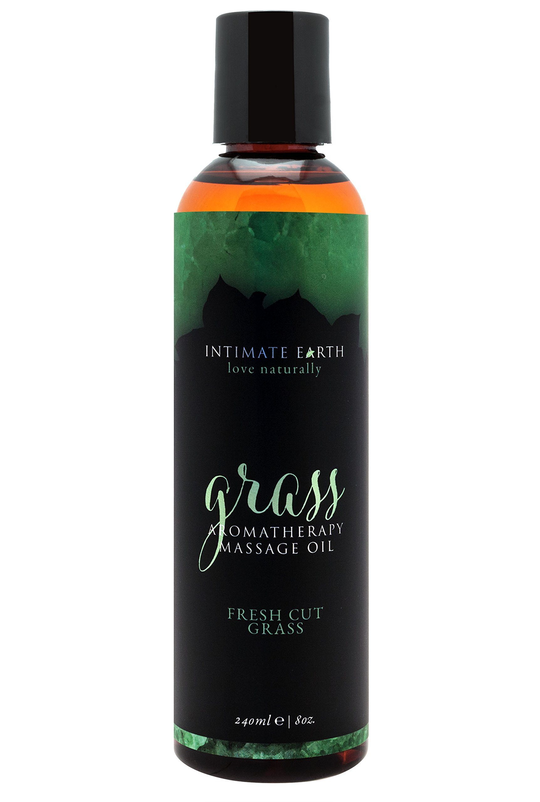 Intimate Earth Massage Oil, Grass, 8 Ounce